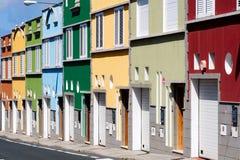 Farbige Häuser stockfoto
