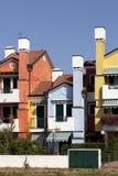 Farbige Häuser Stockbild