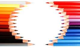 Farbige hölzerne Bleistifte Stockbild