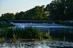 Farbige handgemachte Abbildung Wasserfall Lizenzfreie Stockfotografie