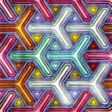 Farbige helle glänzende Zusammenfassung Diamanten des nahtlosen Weihnachtshintergrundes Stockfoto