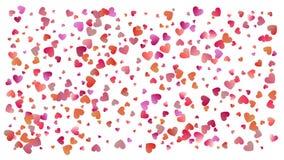 Farbige Herzkonfettis für die Feiertage der Frauen vektor abbildung