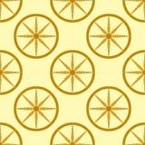 Farbige Hintergrund-Vektorillustration der gelben Musterformkunst des Kreises nahtlosen geometrische grafische Lizenzfreie Stockfotos