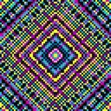Farbige Hintergrund-Vektorillustration des Pixels psychedelische Lizenzfreie Stockfotos