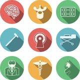 Farbige Ikonen für Neurologie stock abbildung