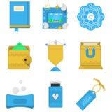 Farbige Ikonensammlung für Geschenke Lizenzfreies Stockfoto