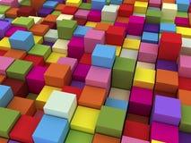 farbige Kästen 3D Stockfoto