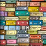 Farbige Koffer Stockfotografie