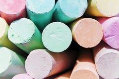 Farbige Kreide für das Zeichnen, schöne Kunst Stockbilder