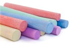 Farbige Kreidesteuerknüppel. stockbild