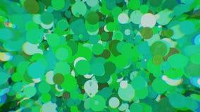 Farbige Kreise mit Unschärfe auf den Seiten Lizenzfreie Stockfotos