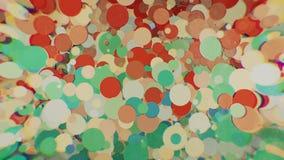 Farbige Kreise mit Unschärfe auf den Seiten Lizenzfreie Stockfotografie