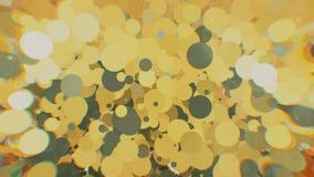 Farbige Kreise mit Unschärfe auf den Seiten Stockfoto