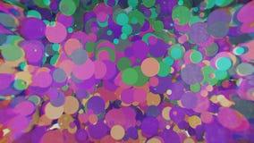 Farbige Kreise mit Unschärfe auf den Seiten Lizenzfreies Stockfoto