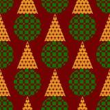 Farbige Kreise und Dreiecke Stockbild