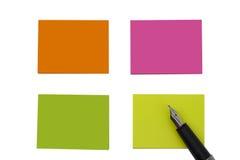 Farbige leere Anmerkungen Stockbilder