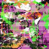 Farbige Linien Graffitimuster auf einer schwarzen Hintergrundillustration lizenzfreies stockbild
