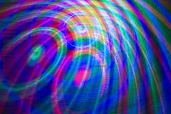 Farbige Linien und Kreise auf der Wand extrahieren Hintergrund Stockbild
