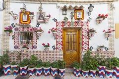 Farbige malerische Häuser, Straße Typisches Nachbarschaft histori lizenzfreie stockbilder