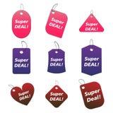farbige Marken - Superabkommen Stockbilder