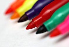 Farbige Markierungen Lizenzfreie Stockbilder
