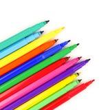 Farbige Markierungsstifte Stockfotos