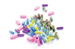Farbige Medizin der Draufsicht Stockbild