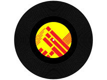 Farbige Musikvinylaufzeichnung Lizenzfreie Stockfotos
