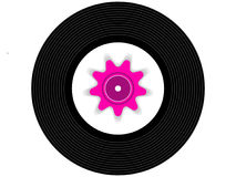 Farbige Musikvinylaufzeichnung Stockfotografie