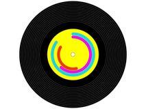 Farbige Musikvinylaufzeichnung Stockbild