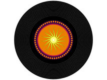 Farbige Musikvinylaufzeichnung Lizenzfreies Stockbild