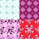 4 farbige Muster Stockfotos