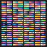 Farbige Netzknöpfe mit verschiedenen Steigungen Lizenzfreie Stockbilder