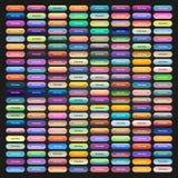 Farbige Netzknöpfe mit verschiedenen Steigungen Lizenzfreie Stockfotos