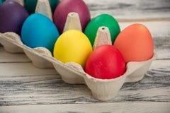 Farbige Ostereier Stockfotografie