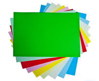 Farbige Papiere Stockfoto