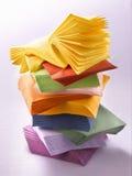 Farbige Papierservietten Lizenzfreie Stockfotografie