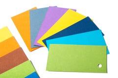 Farbige Pappkarten Lizenzfreie Stockfotos