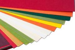 Farbige Pappkarten Lizenzfreies Stockbild