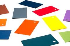 Farbige Pappkarten Stockbilder