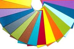 Farbige Papppalette, Farbführer, Papierproben, Farbkatalog Stockfoto