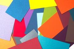 Farbige Papppalette, Farbführer, Papierproben, Farbkatalog Stockbild