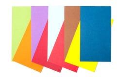 Farbige Papppalette, Farbführer, Papierproben, Farbkatalog Lizenzfreies Stockbild
