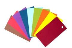 Farbige Papppalette, Farbführer, Papierproben, Farbkatalog Stockbilder