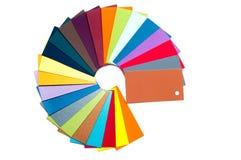 Farbige Papppalette, Farbführer, Papierproben, Farbkatalog Stockfotografie