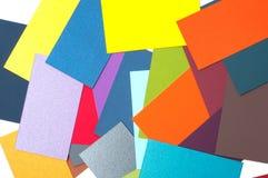 Farbige Papppalette, Farbführer, Papierproben, Farbkatalog Stockfotos