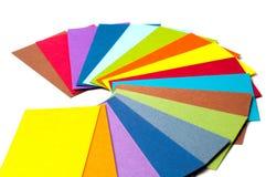 Farbige Papppalette, Farbführer, Papierproben, Farbkatalog Lizenzfreie Stockfotos