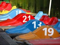 Farbige Pedalboote Lizenzfreies Stockbild