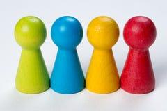 Farbige Pfandgegenstände Stockfotos