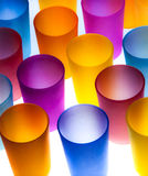 Farbige Plastikcup Stockbild
